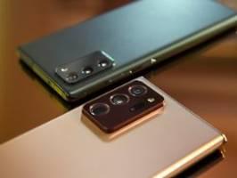 Smartphone-Flaggschiff mit Stift: Beim Galaxy Note 20 ist nur das Ultra top