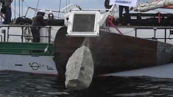 Nach Steineversenken: BSH will Greenpeace-Grundwall ansehen