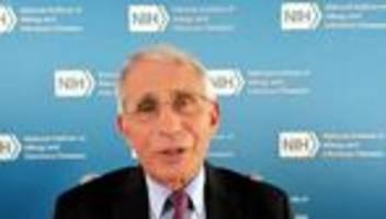 anthony fauci: immunologe rechnet ende 2020 mit corona-impfstoff