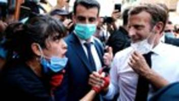 Emmanuel Macron in Beirut: Libanesen bitten Macron um Hilfe für Regierungswechsel
