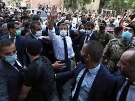 Korruption soll endlich enden: Macron redet Klartext in Beirut