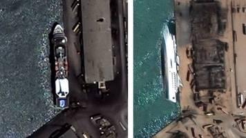 Vorher-Nachher-Aufnahmen: Satellitenbilder von Beirut zeigen das volle Ausmaß der Zerstörung