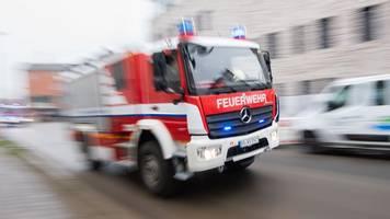Feuer auf Tankstellengelände in Düsseldorf