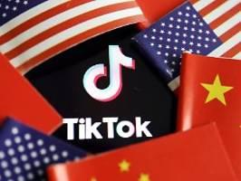 china droht mit konsequenzen: tiktok will gegen trump-verbot vorgehen