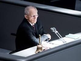 Neuer Rekord möglich: Schäuble will auch 2021 wieder kandidieren