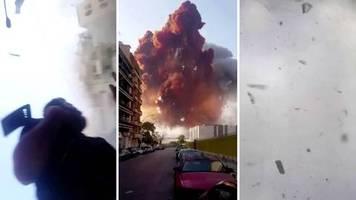 Katastrophe im Libanon: Neues Video von Beirut-Explosion aufgetaucht, mittlerweile 16 Verdächtige festgenommen