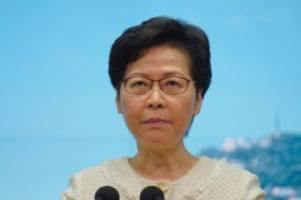 Machtkampf mit China: USA bestrafen Hongkonger Regierungschefin Lam