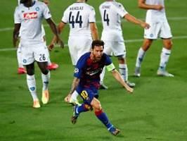 CL-Weiterkommen gegen SSC Neapel: Lionel Messi erlöst den FC Barcelona