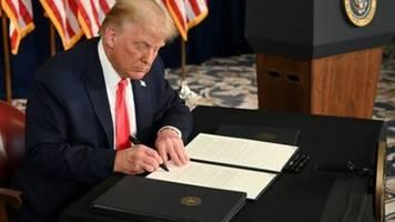Trump erlässt per Dekret neues Corona-Hilfspaket
