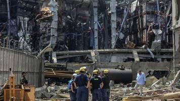 Explosion im Libanon: Beirut: Rettungskräfte schockiert vom Ausmaß der Zerstörung