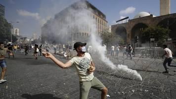 Nach der Explosion: Verletzte bei Protesten gegen Regierung in Beirut