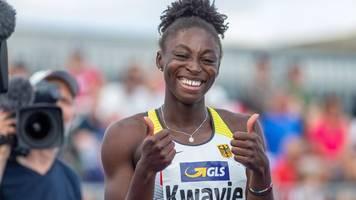 leichtathletik: kwayie erstmals deutsche sprint-meisterin über 100 meter
