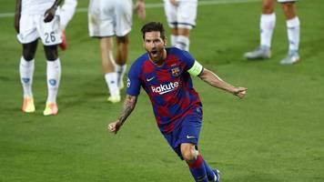 Champions League - Messi bekommt Tritt - Trainer: kein Problem für Bayern-Spiel
