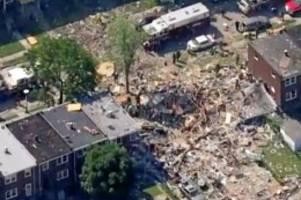 Rettungseinsatz: Baltimore: Wohnhäuser bei Gasexplosion zerstört - eine Tote