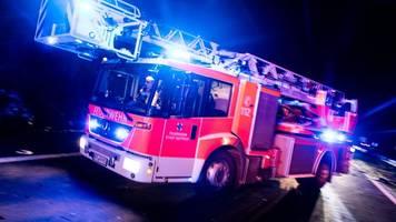 140 Einsatzkräfte rücken wegen Großbrand in Hamm aus
