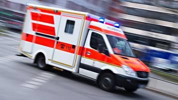 biene im helm: motorradfahrer schwer verletzt