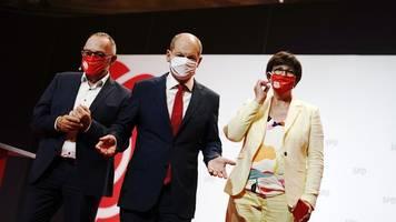 bundestagswahl 2021 - spd hat kanzlerkandidaten: scholz glaubt an über 20 prozent