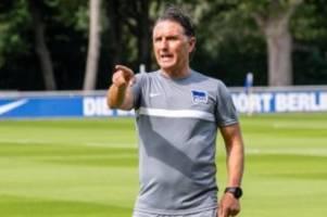 Fußball: Hertha-Trainer Labbadia ohne Eile bei Kaderplanung