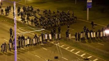 news von heute: wahlmanipulationen und polizeigewalt: eu droht belarus mit maßnahmen