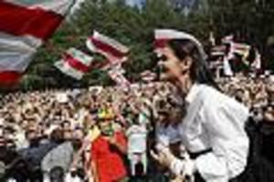 um sich zu schützen - nach wahl in belarus: oppositionelle tichanowskaja verlässt das land