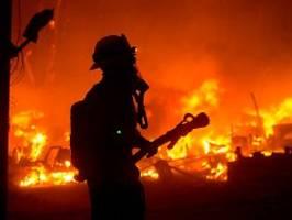 evakuierung wegen corona schwer: kalifornier flüchten vor riesigem buschbrand