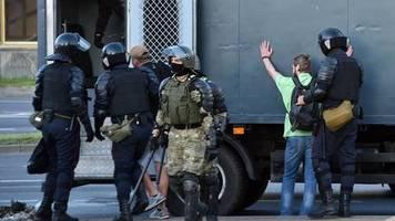 News von heute: Polizei meldet 700 Festnahmen bei weiterer Protestnacht in Belarus