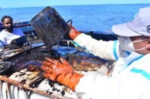 taucherparadies: wut und trauer: Ölkatastrophe auf mauritius