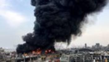 libanon: erneut großbrand am hafen von beirut