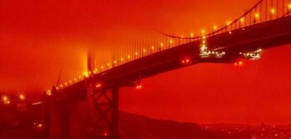"""""""apokalyptische"""" bilder – golden-gate-bridge verschwindet im rauch"""