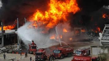 beirut: erneut großbrand an hafen ausgebrochen