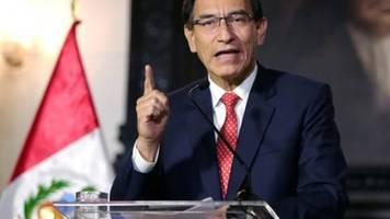 Peruanisches Parlament stimmt für Amtsenthebungsverfahren gegen Präsident Vizcarra