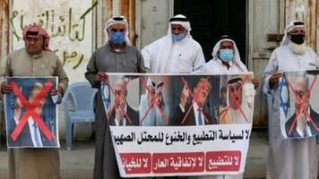 palästinenser und ihre unterstützer kritisieren bahrains annäherung an israel