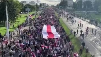 Proteste in Belarus: Wieder 100.000 gegen Lukaschenko: Das diktatorische Regime kann leider nicht so schnell gestürzt werden