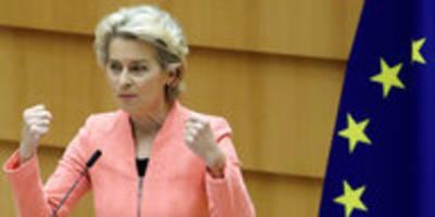 eu-kommissionpräsidentin von der leyen: rede mit leerstellen