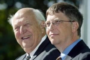 Tod kam nicht unerwartet: Bill Gates trauert um seinen Vater