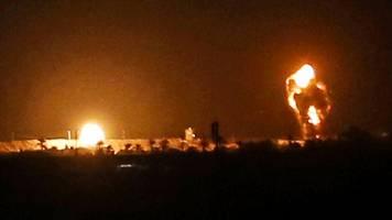 israel: luftwaffe bombardiert gazastreifen nach raketenangriff