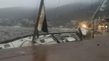 Video: Seltener Wirbelsturm über Mittelmeer