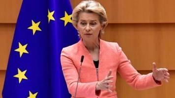 Merkel empfängt EU-Kommissionspräsidentin von der Leyen