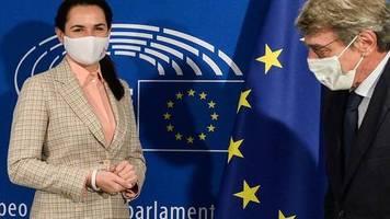Tichanowskaja in Brüssel: Besuch aus Belarus: EU-Diplomaten empören Minsk und Moskau