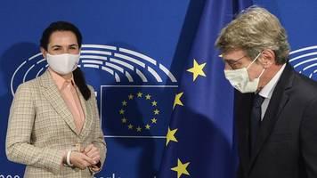 tichanowskaja in brüssel - besuch aus belarus: eu-diplomaten empören minsk und moskau