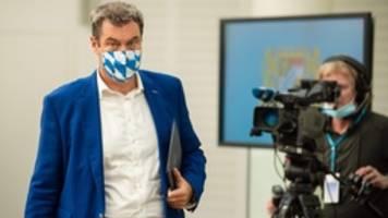 Corona-Maßnahmen: Söder will Maskenpflicht auf öffentlichen Plätzen