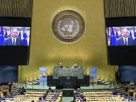 75 Jahre Vereinte Nationen: Länderchefs gratulieren, Trump bleibt fern