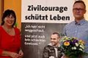 """Auszeichnung durch """"Weißen Ring""""  - Stephan Werner stoppte Messer-Angreifer und rettete Leben: """"Held von Gera"""" geehrt"""