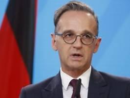 leibwächter infiziert: außenminister maas in corona-quarantäne