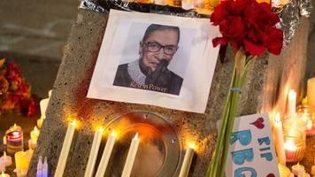 Tod von Verfassungsrichterin: Abschied von Ginsburg - Streit um Nachfolge dauert an