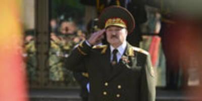"""Vereidigung von Lukaschenko in Belarus: """"Ich kann nicht anders"""""""