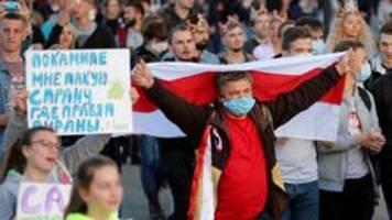 neue proteste: wasserwerfer gegen demonstranten in minsk