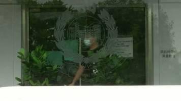 Video: Hongkonger Demokratie-Aktivist Wong vorübergehend festgenommen