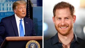 Aufruf zur US-Wahl: Ich wünsche ihm viel Glück, er wird es brauchen: Donald Trump attackiert Prinz Harry
