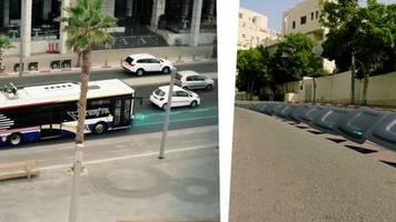 Innovative Technik: Straße der Zukunft? Tel Aviv testet elektrische Fahrbahn, die Busse mit Strom versorgt